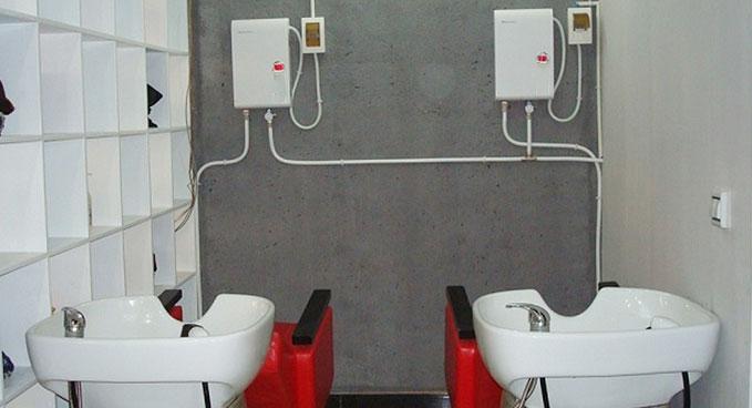 发廊用大容量中央供水电热水器定制方案